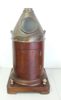 Antique Maritime Wood & Brass Ships Yacht Binnacle ~ No Compass ~ Free Shipping