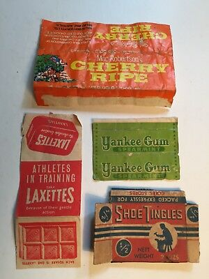 Old Vintage Australian Pre Metric Lolly Candy MacRobertson's Laxatives Wrapper