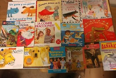 Lot of 30 Spanish Espanol Learn to Read Children Kids Picture ESL Book MIX #G40