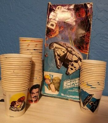 star wars vintage empire strikes back Dixie cups