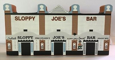 Vintage CATS MEOW VILLAGE SLOPPY JOE'S BAR Handcrafted Wooden Collectible