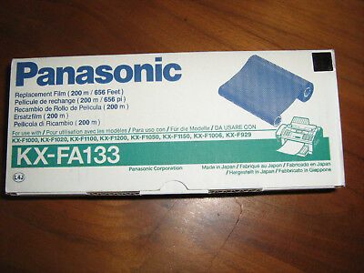 NIB sealed Panasonic KX-FA133 Fax Machine Replacement Film 200 m/656 ft