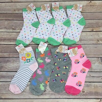 Lot of 8 Pairs of Women's Socks Spring Summer Theme Sock Size 9 - 11