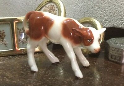 Vintage Sylvac Collectors Calf Young Cow Porcelain Ornament Stamped England