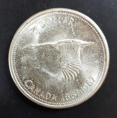 1967 Canada Silver Dollar - (Goose) Uncirculated.....