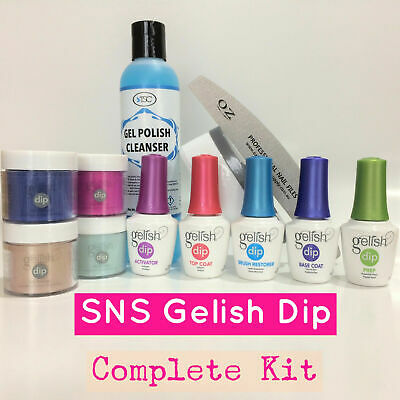 Gelish Dip SNS Liquids Nail Complete Kit Dipping Powders Choose Any 4 Colours