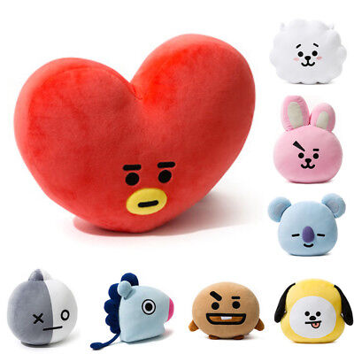 Official Bt21 Cushion, Bts Mang Chimmy Tata Cooky Authentic Bt21 Pillow Kpop