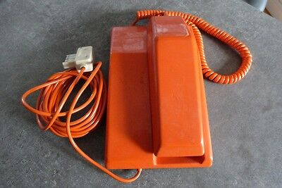 Ancien Telephone Orange  Vintage