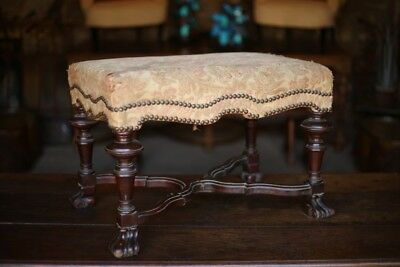 19th Century Spanish Walnut stool