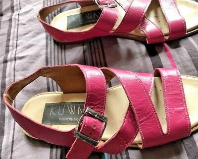 Leather KUWAII Sandals Sz 37.5 Exc Condition Made in Melbourne RRP $300