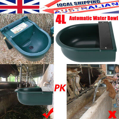 Animal Water Trough 4L & Automatic Float - Sheep Drinker Horse Cattle Cat Dog