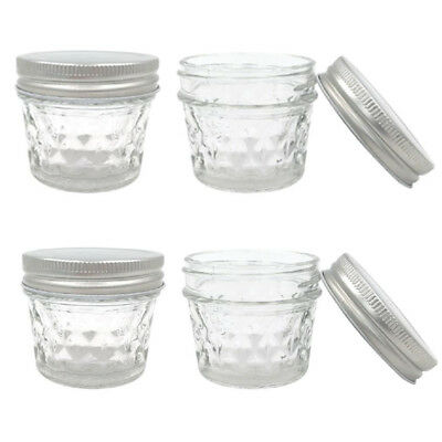 Small 100Ml Quilted Conserve Jam Candle Making Glass Jars Jar Candy Party Event