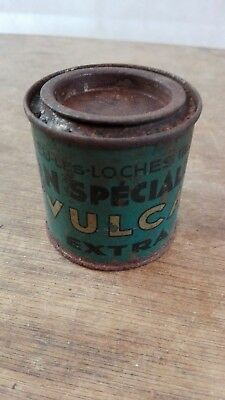 Boite VULCA ancienne dissolution/collection automobilia bidon/garage vintage