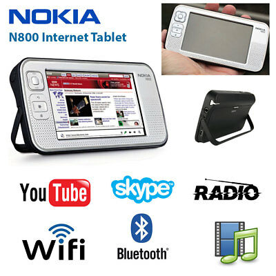 NOKIA N800 Internet Tablet Rare Maemo OS2008 WiFi Bluetooth Radio Touch Screen