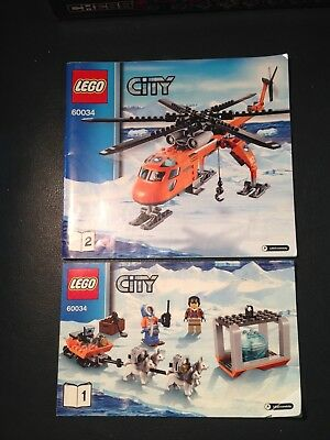 lego 60034 city snow rescue - instruction booklets only