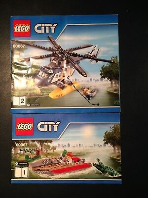 Lego 60067 city water rescue - instruction booklets only