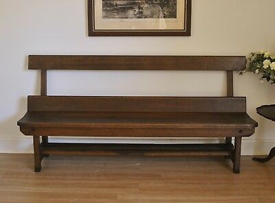 Antique Oak 180 cm Church Pew Hall / Window / Feature / Bench Seat c1925