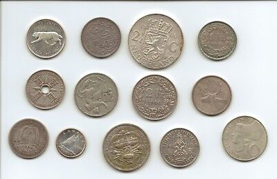 WORLDWIDE SILVER COINS - 13 Coins in Total