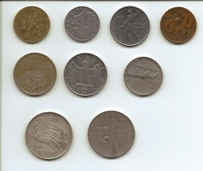 ITALY - Selection of Coins including 1 Silver Coin