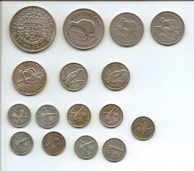 NEW ZEALAND - Selection of Silver Coins