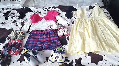 baby and Kids bundle 12 to 18 months girl's outfit an baby girl an boy shoe NEW