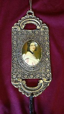 24K Gold Plated Ornament Victorian Lady Cameo FREE SHIP