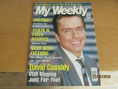 David Cassidy My Weekly Magazine - cover and feature 27.4.2002