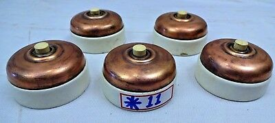 "Vintage Electric Switches Door Bell ""press"" Victorian British Make Collectib 5 P"