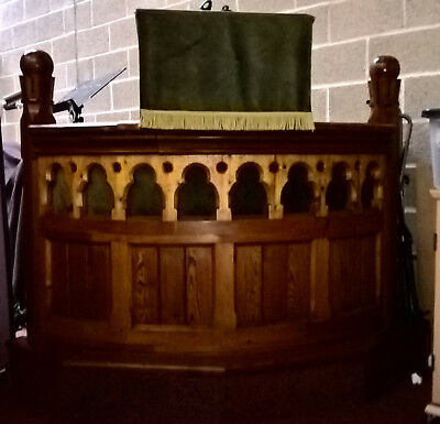 Pulpit From 1900 Congregational Church - wood with later bible lectern