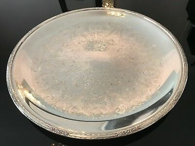Vintage CAMILLE International Silver Company # 6067 C Large Round Tray!