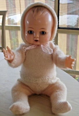 Vintage Kader - B3516 1/2 B.H Plastic Doll - Moving Eyes and Tongue - Lovely