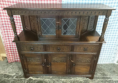 Stunning Solid Oak Jaycee Court Cupboard Dresser Sideboard Excellent Condition