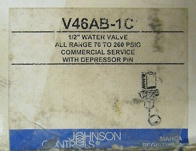 "JOHNSON CONTROLS V46AB 1C 70-260 PSIG 1/2"" Commercial Water Valve"