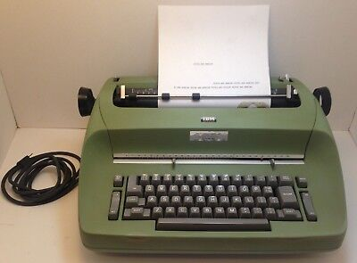 IBM Selectric I Model 72 Electric Typewriter Green 115 Volts Tested & Working