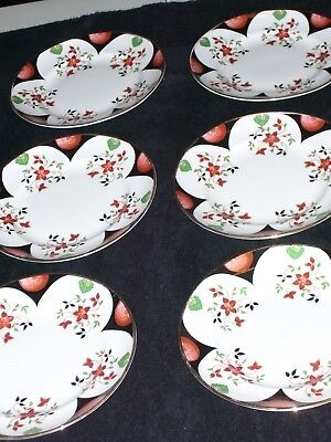 "Royal Tara Celtic Arch Bone China Made In Galway-Six-6.25"" Side Plates-Beautiful"