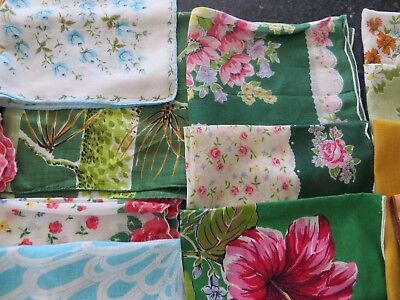 Vintage Hankies, Handkerchiefs, Floral Lot of 23