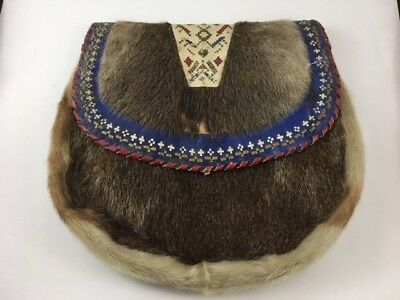 OLD Native American Medicine Possibles Bag Pouch Northern Plains Porcupine Quill