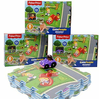 Fisher-Price Little People Mega Mat Foam Puzzle with 1 Assorted Character Car