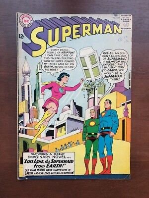 Superman #159 (1963) 6.0 FN DC Key Issue Comic Book Lois Lane Superman