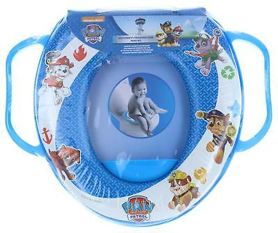 Paw Patrol Blue Soft Padded Toilet Training Seat With Handles Toddler Kids
