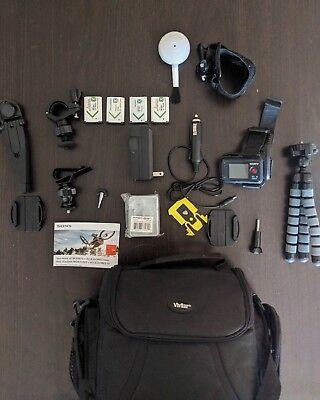 Sony Action Cam Accessories with Bag