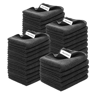Microfibre Polishing and Dusting Cloths, Black, Chemical-Free Cleaning Cloths