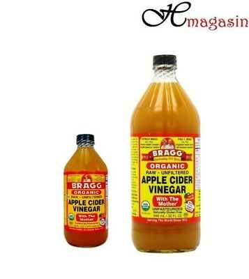 Bragg Organic Raw Apple Cider Vinegar With Mother- Either Choose 473ml or 946ml