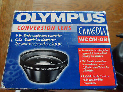 Olympus 0.8x Wide Angle Lens Converter Camedia WCON-08 in excellent condition