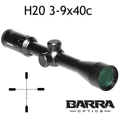 Barra Rifle Scope H20 3-9x40c BDC Reticle Capped Turrets Hunting Precision