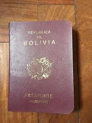 Bolivia  Collectable Passport Nice To Add To Your Collection Year 1989