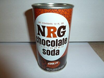 NRG Chocolate Soda flat top can - Excellent - RARE