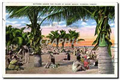 CPA Bathers Under The Palms At Miami Beach Florida