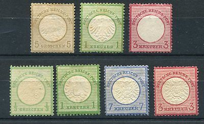 Germany (Reich) 1872 -  Selection classics 5 MH, 2 mint no gum