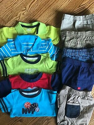 10 PC LOT Boys Toddler shorts summer Gymboree size 24 months 2T outfits animals